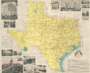 Texas Highway System Map 1936 Back