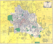 Ashburn's 1947 Houston city map