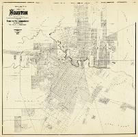 "24/"" x 24/"" 1890 Official Map Of The City Of Houston /& Adjoining Surveys"